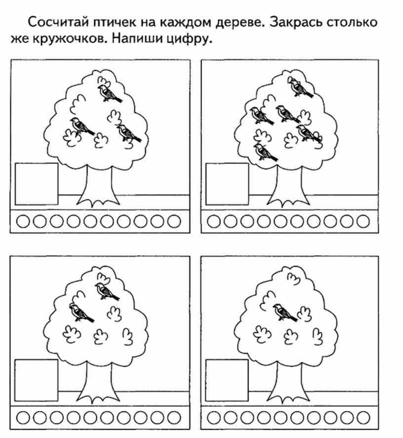 Считаем пртичек на дереве
