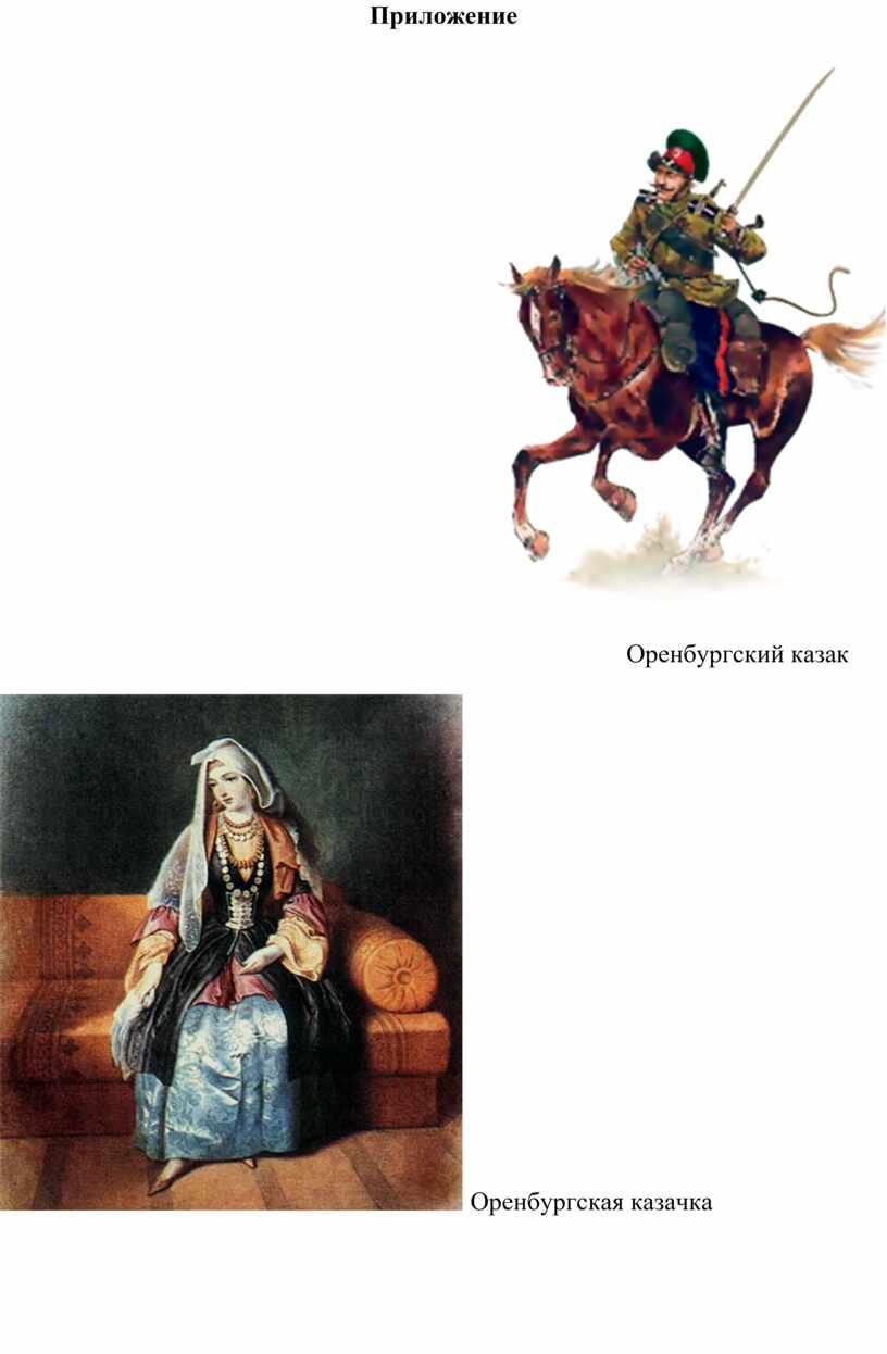 Приложение Оренбургский казак