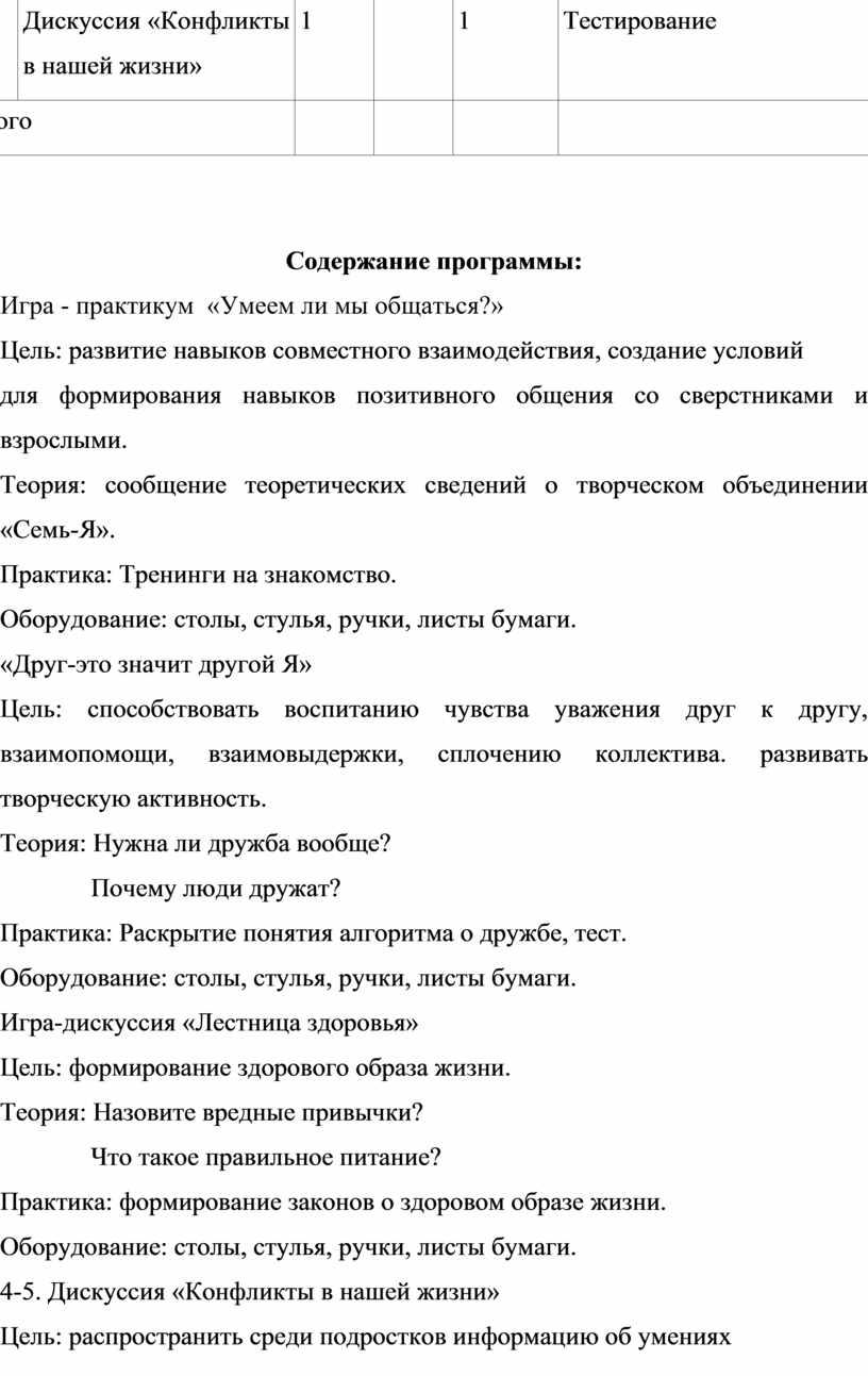 Дискуссия «Конфликты в нашей жизни» 1 1