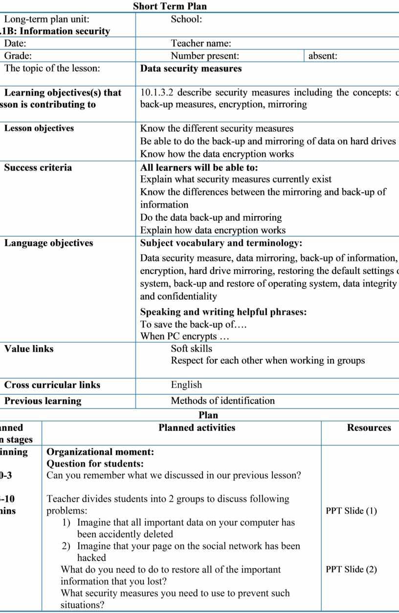 Short Term Plan Long-term plan unit: 10