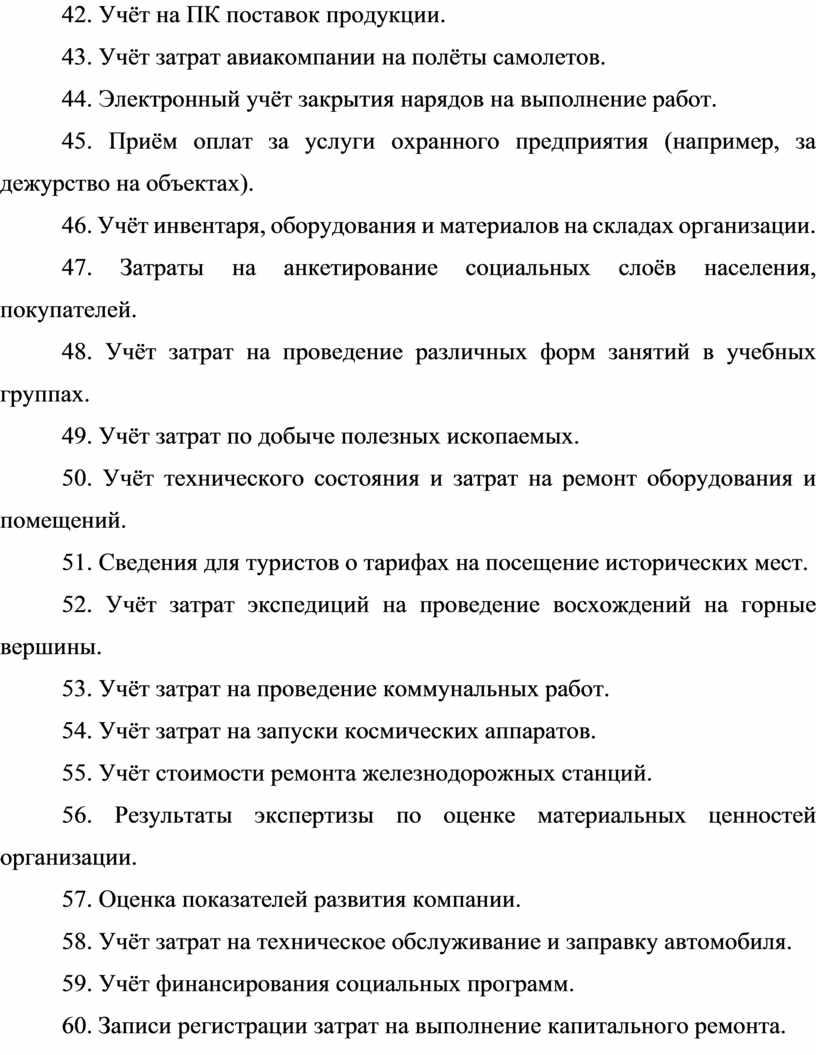 Учёт на ПК поставок продукции