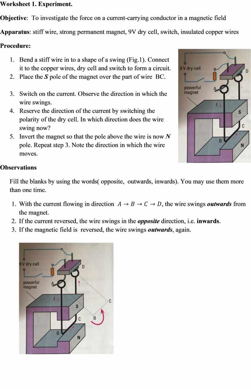 Worksheet 1. Experiment. Objective :