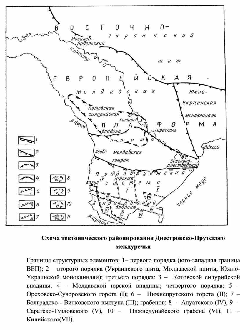 Схема тектонического районирования