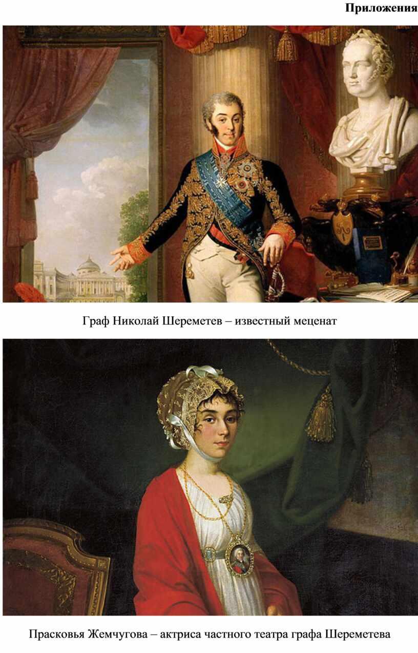 Приложения Граф Николай Шереметев – известный меценат