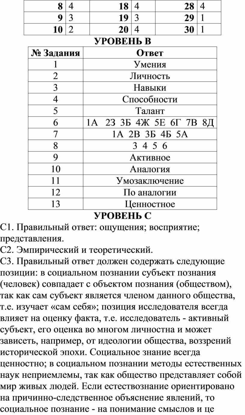 УРОВЕНЬ В № Задания
