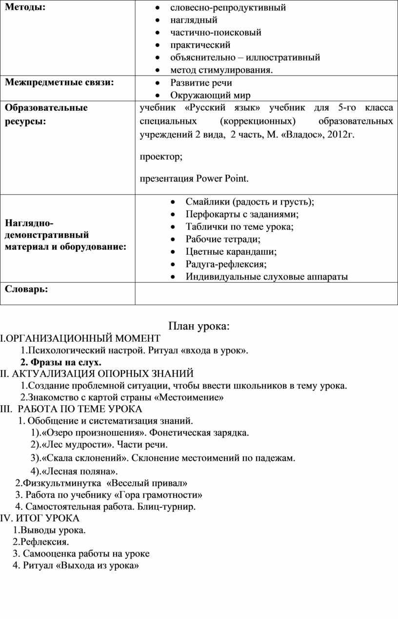 Методы: · словесно-репродуктивный · наглядный · частично-поисковый · практический · объяснительно – иллюстративный · метод стимулирования