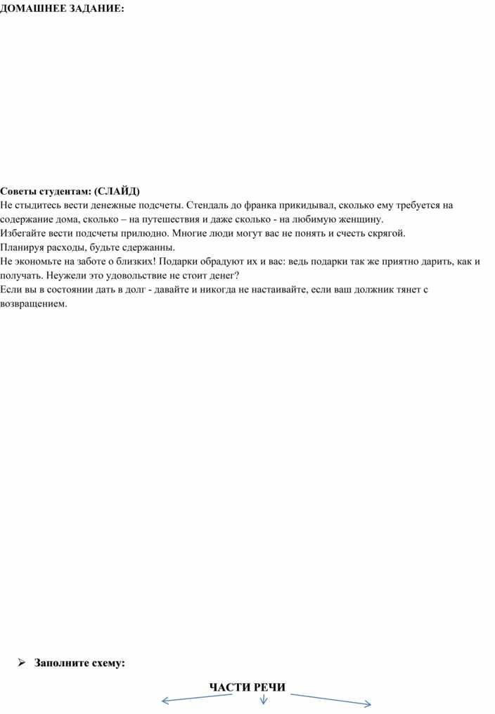 Конспект урока на тему Самостоятельные и служебные части речи. ОГСЭ.05 В Русский язык и культура речи