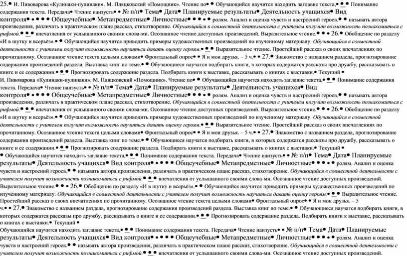 И. Пивоварова «Кулинаки-пулинаки»