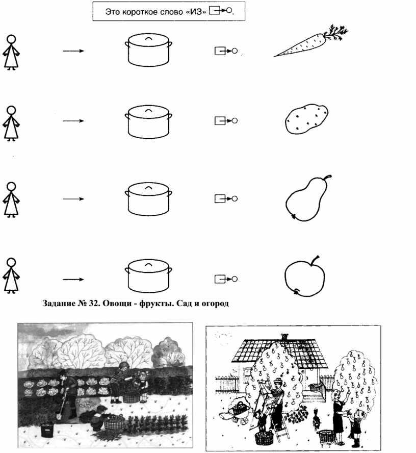 Задание № 32. Овощи - фрукты.