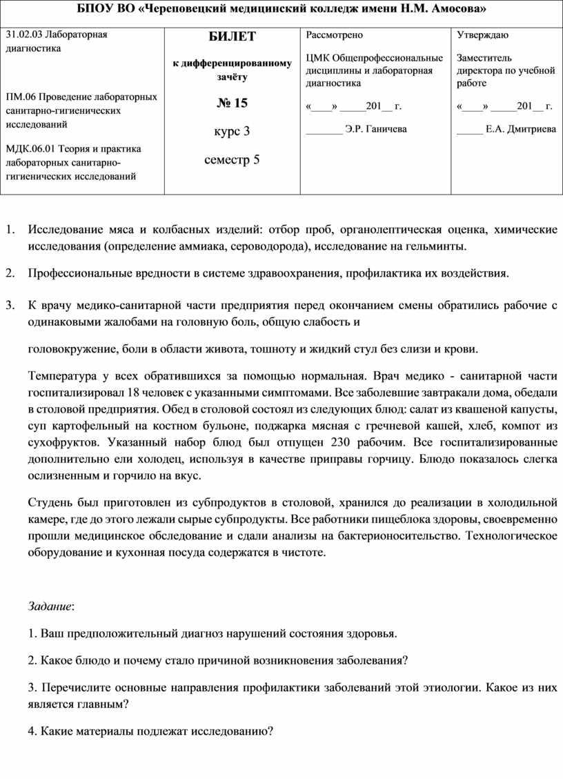 БПОУ ВО «Череповецкий медицинский колледж имени