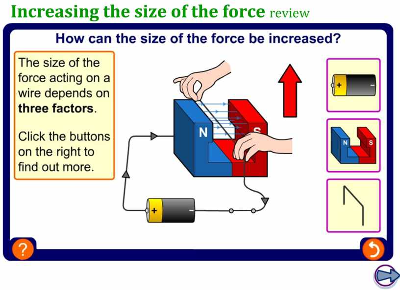 Increasing the size of the force review