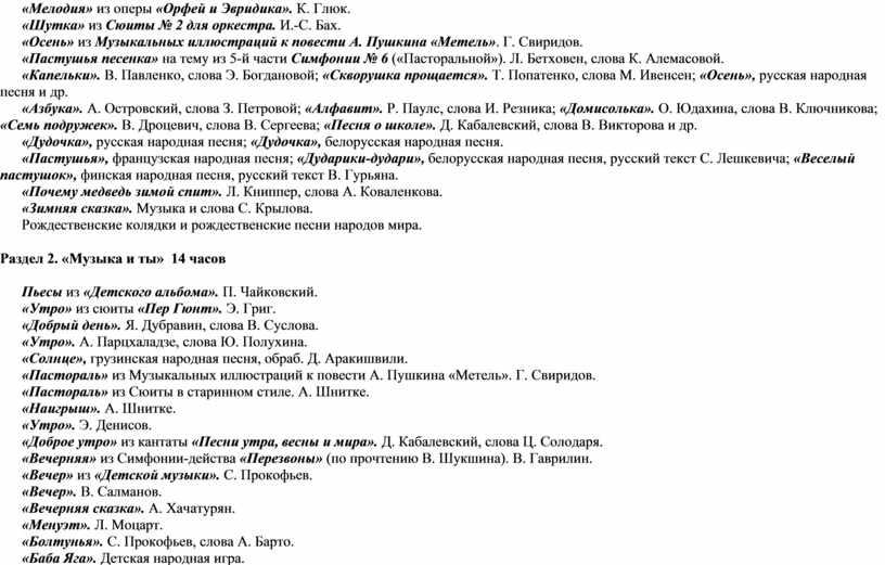 Мелодия» из оперы «Орфей и Эвридика»