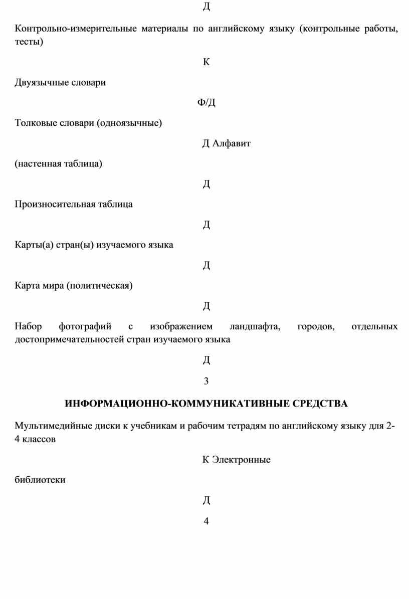 Д Контрольно-измерительные материалы по английскому языку (контрольные работы, тесты)