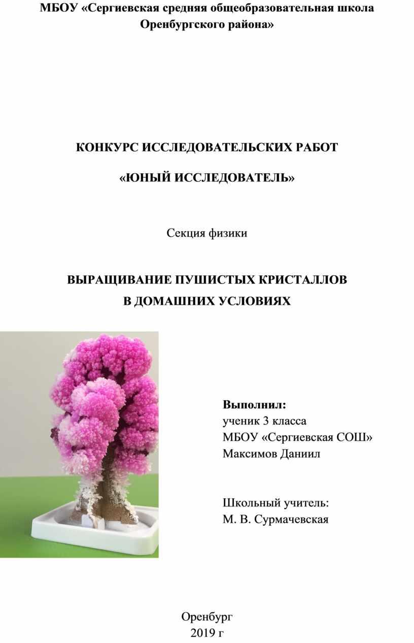 МБОУ «Сергиевская средняя общеобразовательная школа