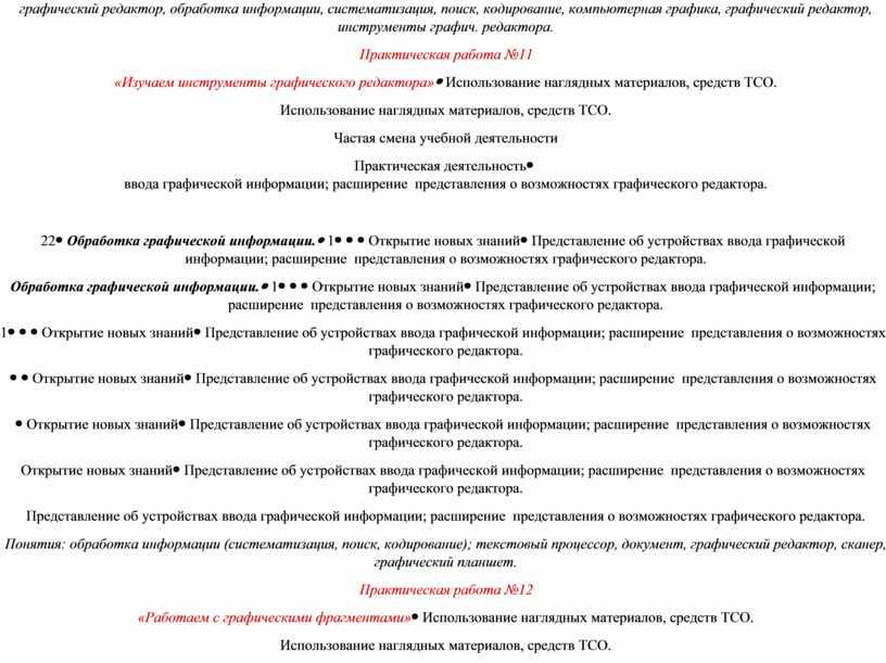 Практическая работа №11 «Изучаем инструменты графического редактора»