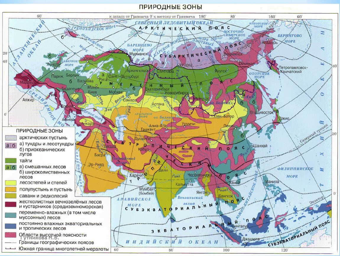 какое место среди материков занимает евразия