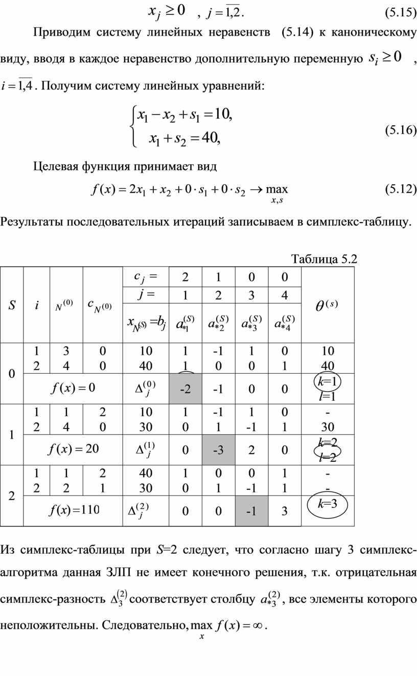 Приводим систему линейных неравенств (5