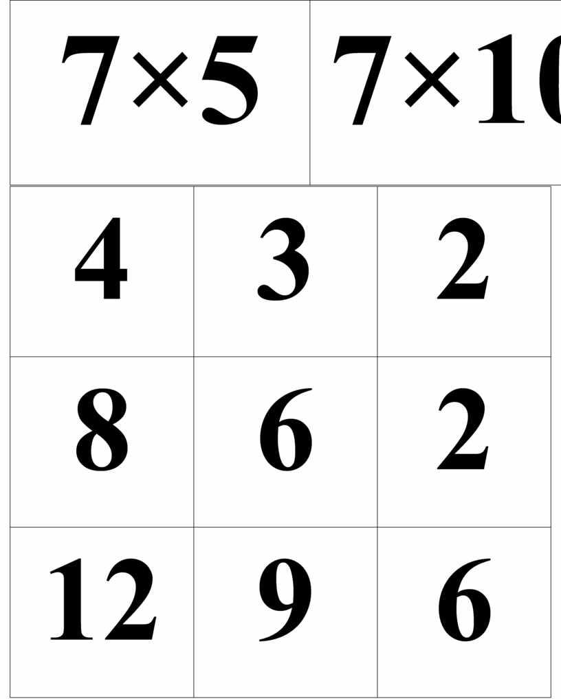 7×5 7×10 4 3 2 8 6 2 12 9 6 16 12 8