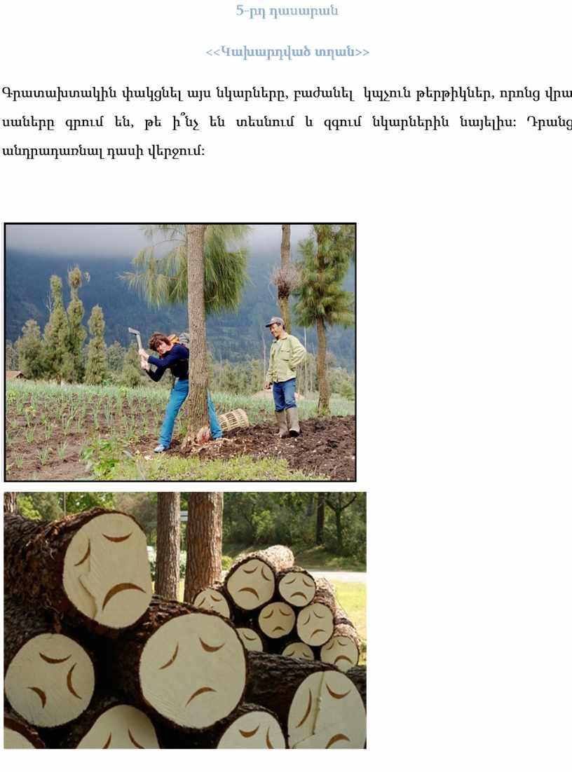 5-րդ դասարան << Կախարդված տղան>> Գրատախտակին փակցնել այս նկարները, բաժանել կպչուն թերթիկներ, որոնց վրա սաները գրում են, թե ի՞նչ են տեսնում և զգում նկարներին նայելիս:…