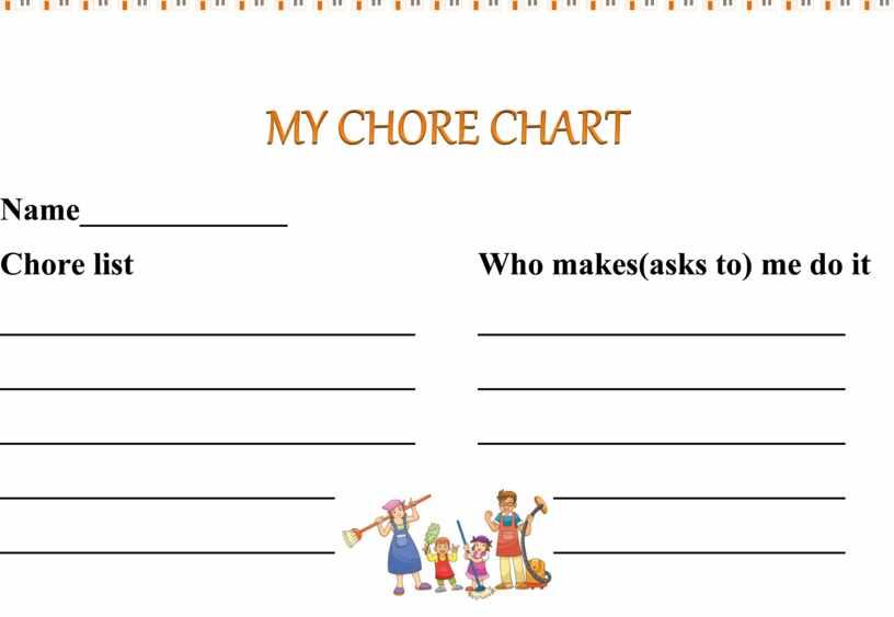 MY CHORE CHART Name_____________