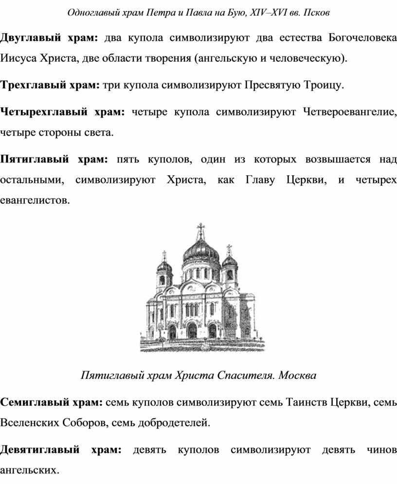 Одноглавый храм Петра и Павла на