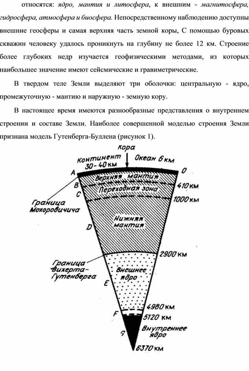 Непосредственному наблюдению доступны внешние геосферы и самая верхняя часть земной коры,