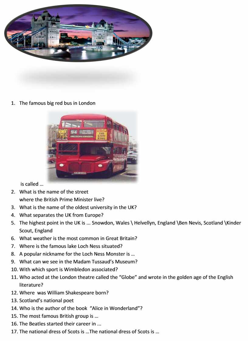 The famous big red bus in London is called … 2