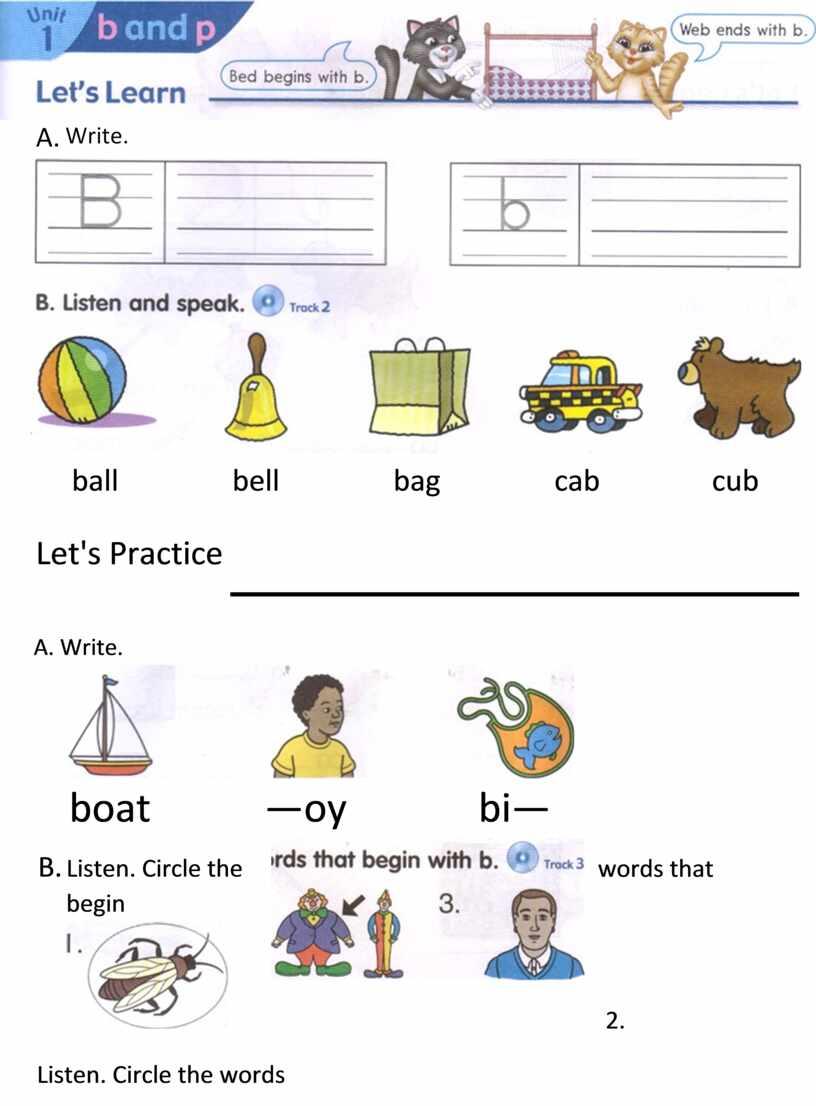 Let's Practice A. Write. boat —oy bi—