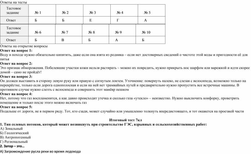 Ответы на тесты Тестовое задание № 1 № 2 № 3 № 4 № 5
