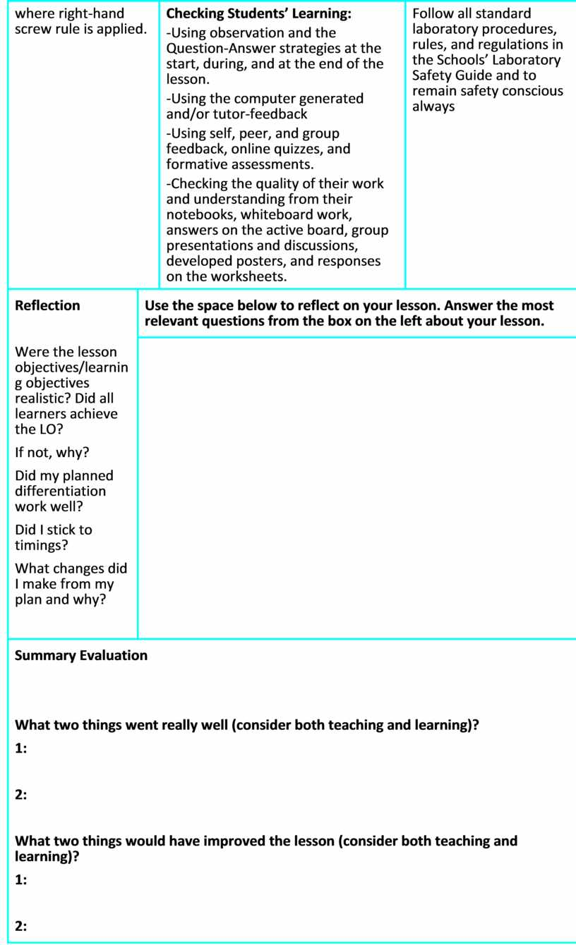 Checking Students' Learning: -Using observation and the