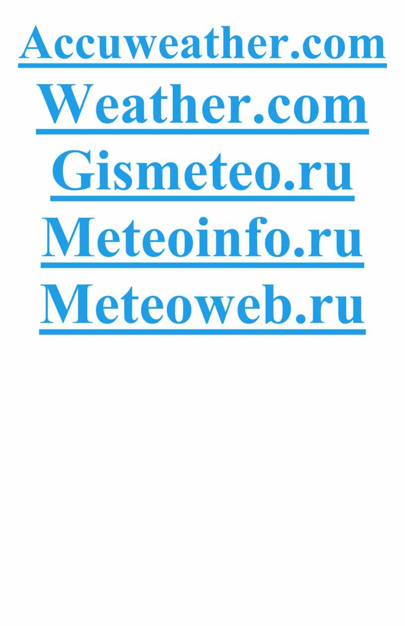 Accuweather.com Weather.com