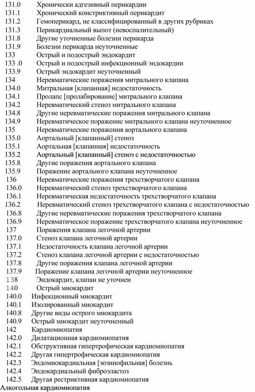 Хронически адгезивный перикардии 131