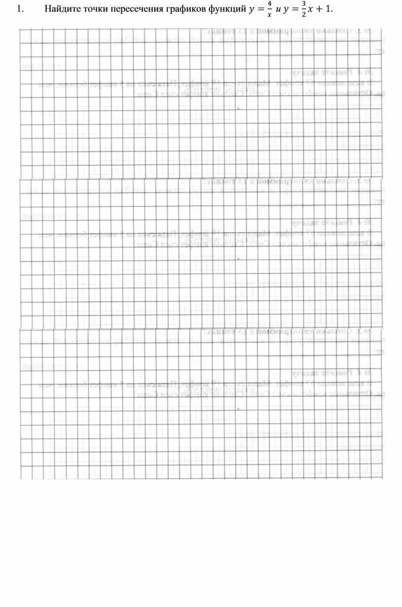Найдите точки пересечения графиков функций