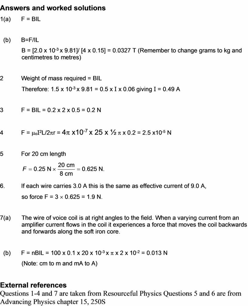 Answers and worked solutions 1 (a)