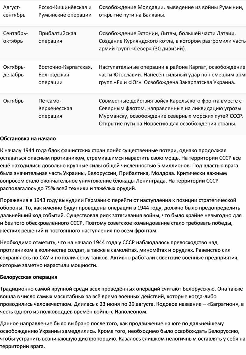 Август-сентябрь Ясско-Кишинёвская и