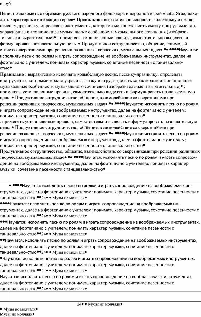 Цели: познакомить с об разами русского народно го фольклора и народной игрой «Баба