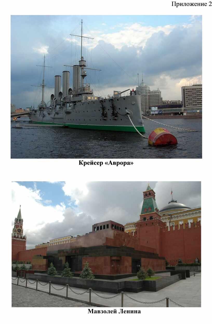 Приложение 2 Крейсер «Аврора»