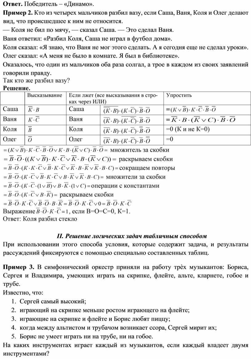 Ответ. Победитель – «Динамо».