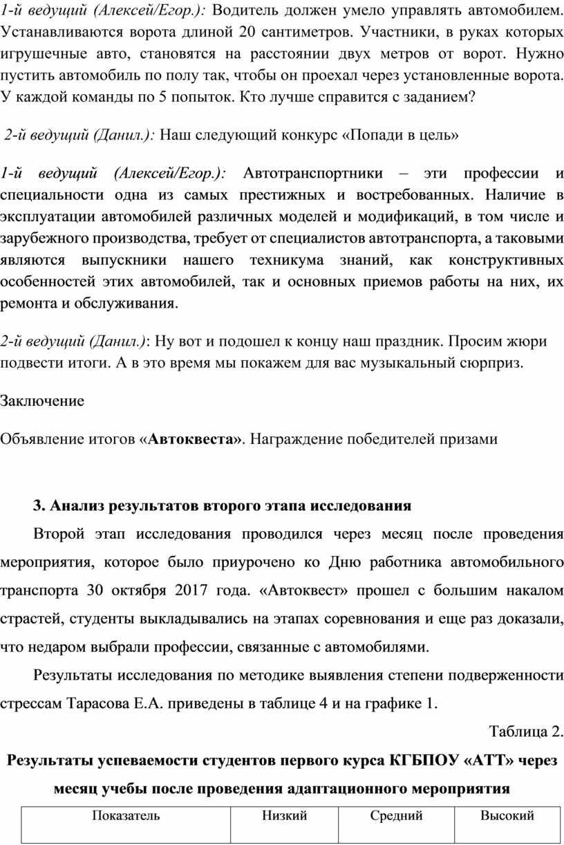 Алексей/Егор.): Водитель должен умело управлять автомобилем