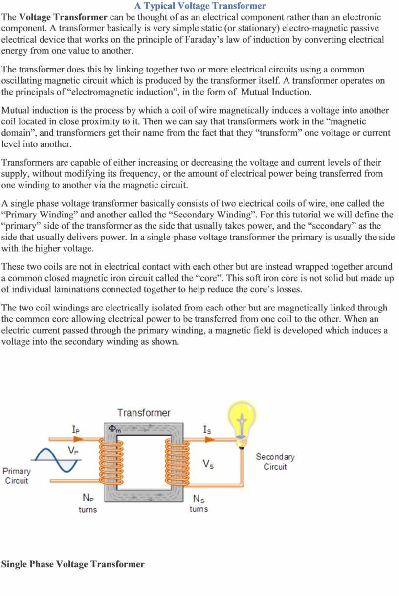 A Typical Voltage Transformer