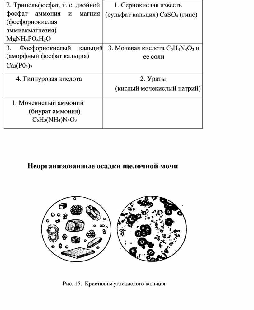 Трипельфосфат, т. е. двойной фосфат аммония и магния (фосфорнокислая аммиакмагнезия)