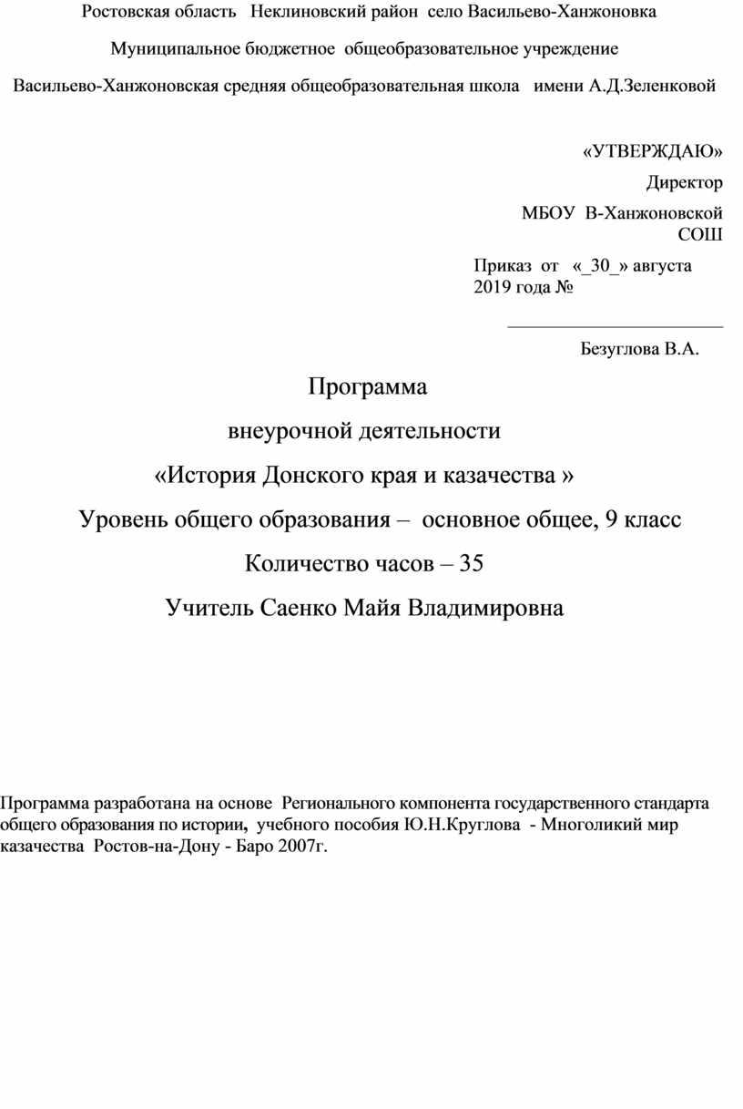 Ростовская область Неклиновский район село