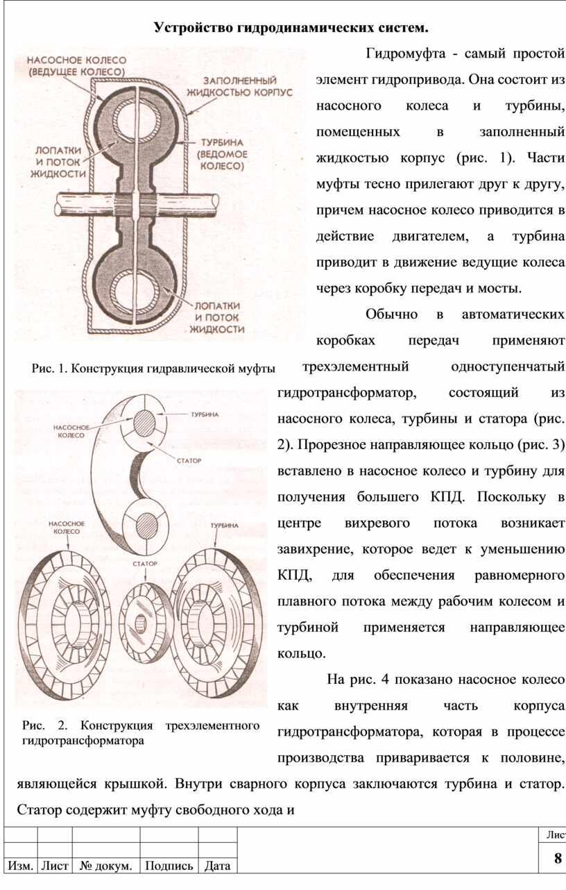 Устройство гидродинамических систем