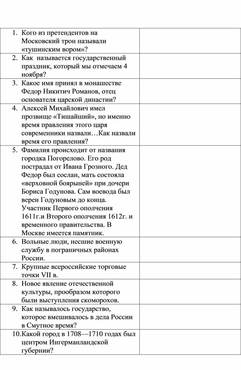 Кого из претендентов на Московский трон называли «тушинским вором»? 2