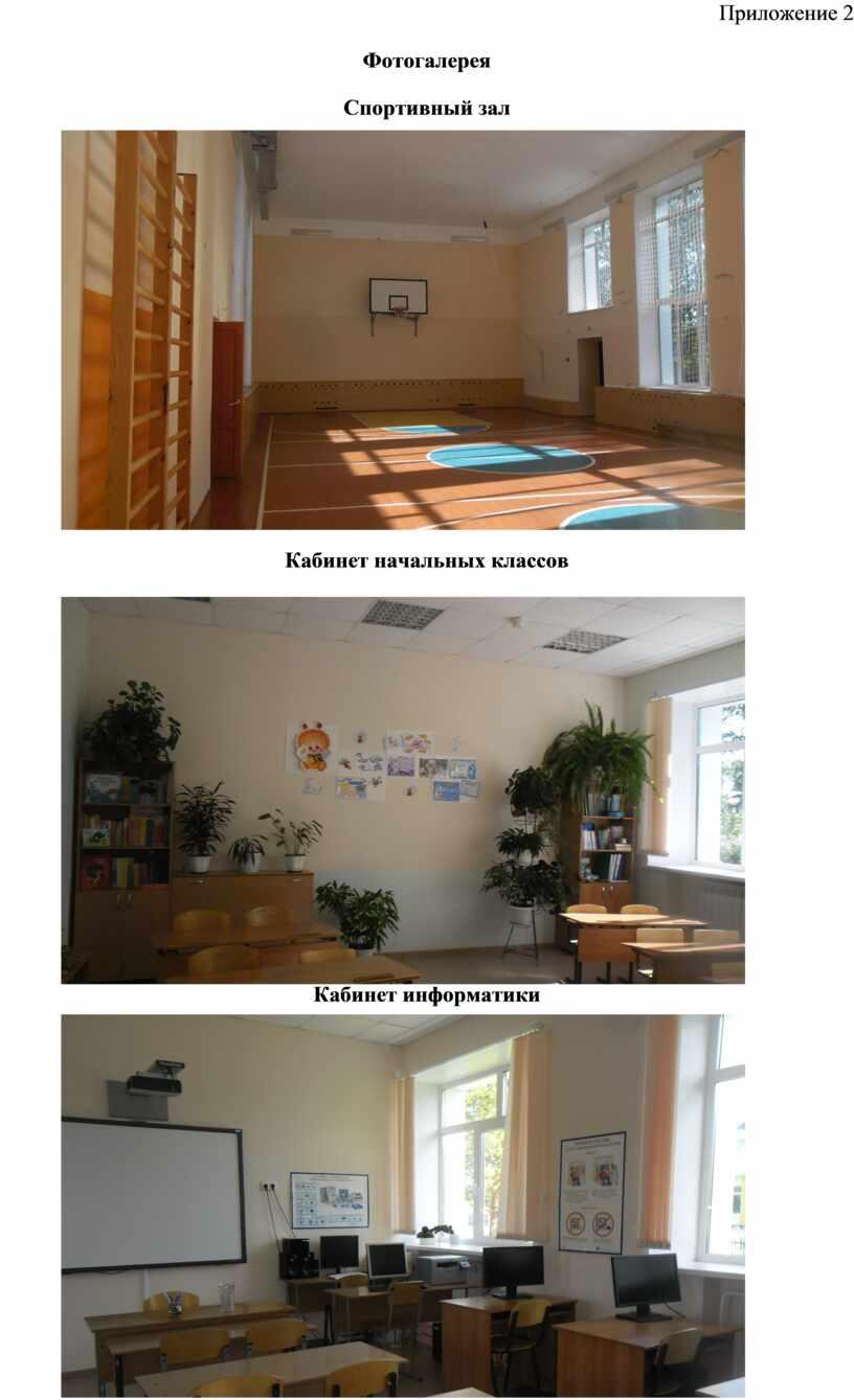 Приложение 2 Фотогалерея Спортивный зал