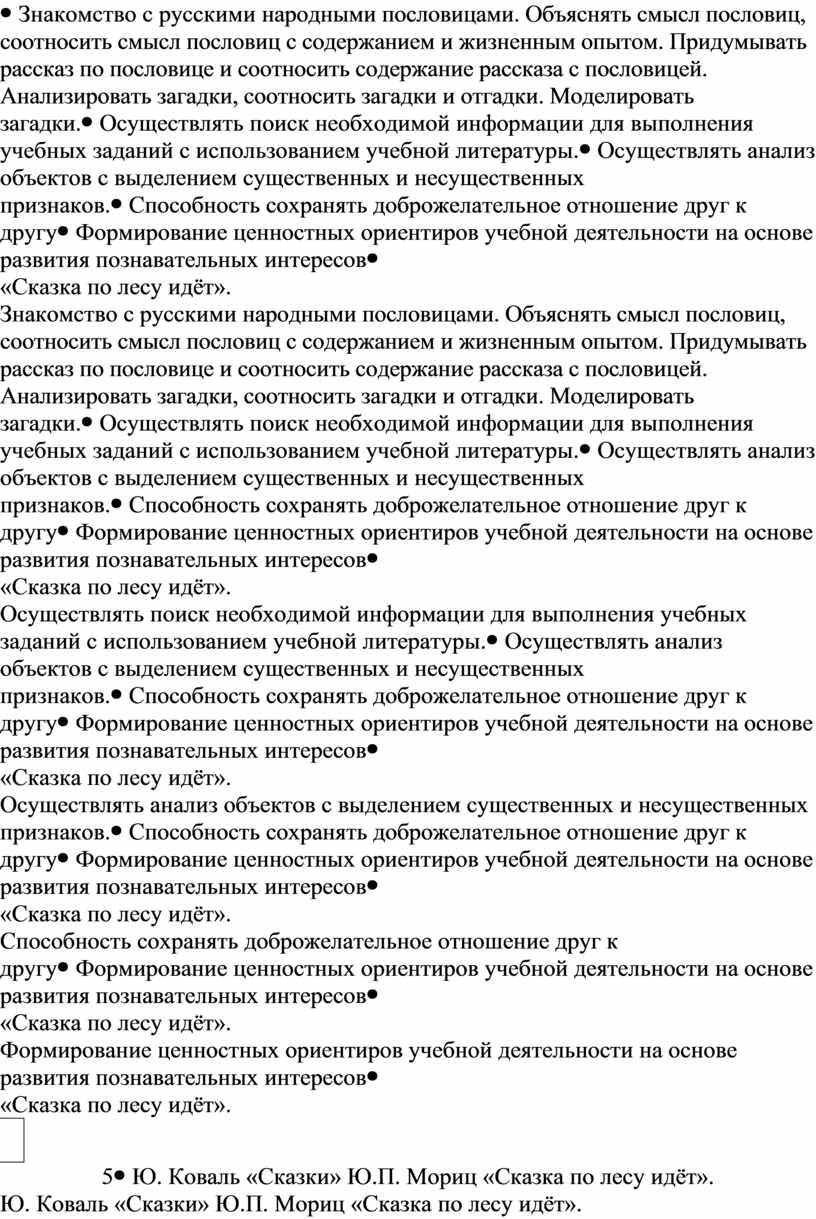 Знакомство с русскими народными пословицами