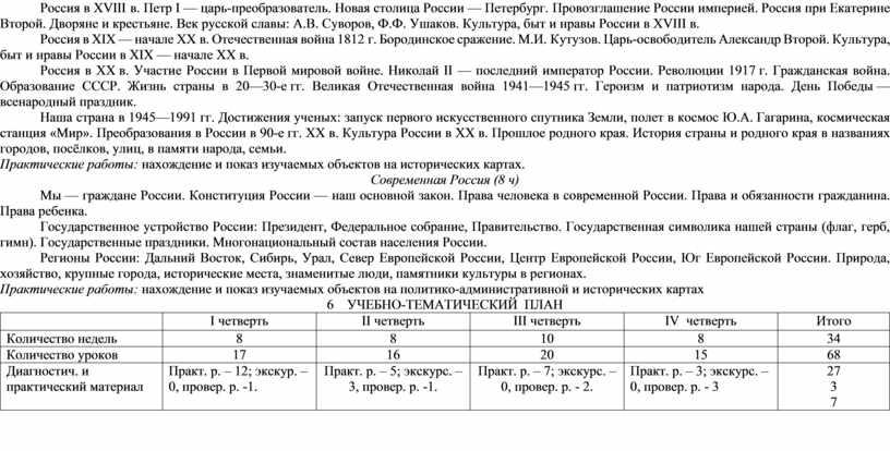 Россия в ХVIII в. Петр I — царь-преобразователь