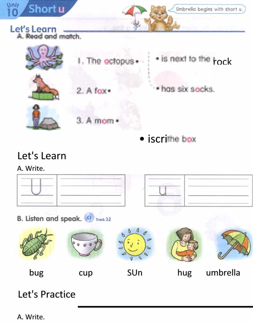 Let's Learn A. Write. bug cup