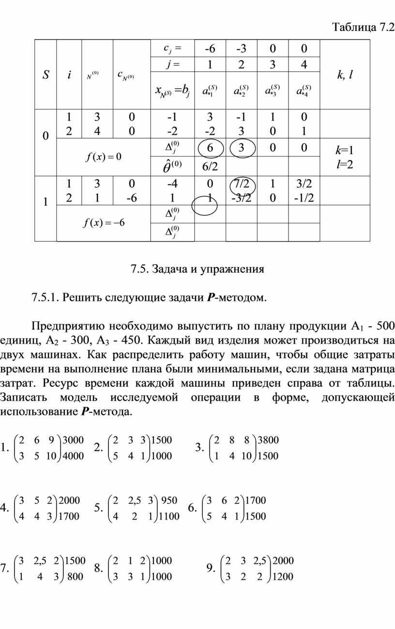 Таблица 7.2 S i -6 -3 0 0 k, l 1 2 3 4 0 1 2 3 4 0 0 -1 -2 3 -2…