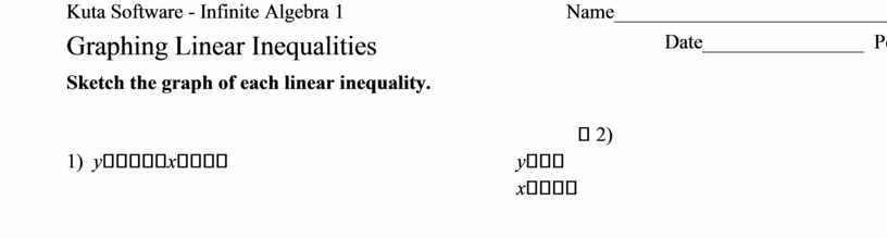 Kuta Software - Infinite Algebra 1